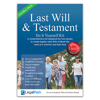 Double Pack Last Will and Testament (DIY Will Kit) by LegalPath™ - 2020 Edition.