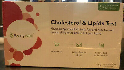 EverlyWell *NEW* At Home Test Kit Cholesterol & Lipids SEALED