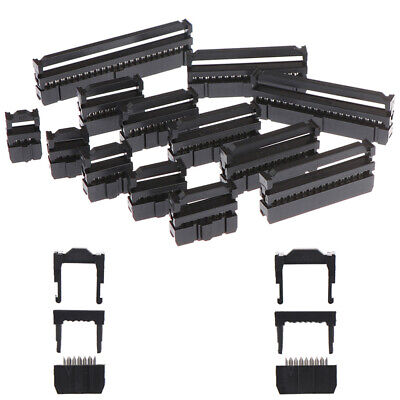 10x 6/8/10/12/14-50Pin IDC Socket Plug Ribbon Cable Connector 2.54mm Pitch xiSTE