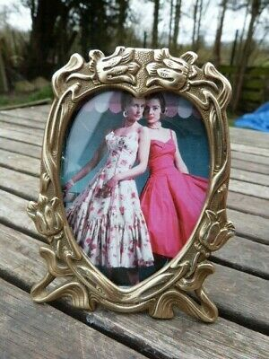 Lovely Small Ornate Vintage French Art Nouveau Style Easel Picture Photo Frame.