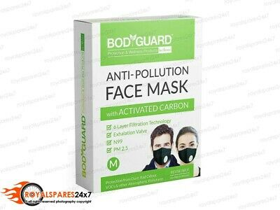 Bodyguard Reusable Anti Pollution Face Mask Activated Carbon N99 + PM2.5 Medium