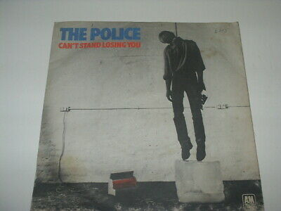 """THE POLICE 7"""" Single CAN'T STAND LOSING YOU Orig 1978 SKY BLUE Vinyl No Centre"""
