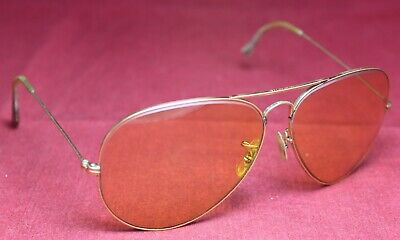 Ray Ban 62-14 Aviator Shooting Glasses w/ Yellow Lenses - B&L - Sunglasses