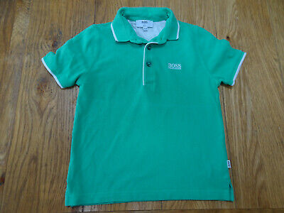 HUGO BOSS boys green designer polo t shirt top AGE 3 - 4 YEARS AUTHENTIC