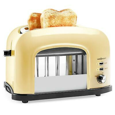 [OCCASION] TOASTER DOUBLE FENTE oneConcept Science Kitchen GRILLE PAIN TOAST