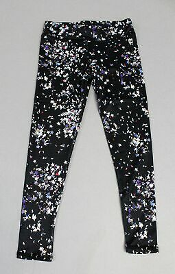 Rockets Of Awesome GIrl's Stretch Confetti Active Leggings BE9 Black Size 6
