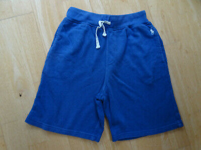 RALPH LAUREN POLO boys blue jersey shorts AGE 8 YEARS AUTHENTIC