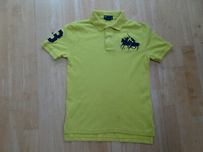 RALPH LAUREN POLO boys yellow polo t shirt top AGE 8 YEARS AUTHENTIC