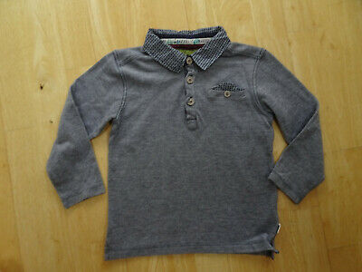 TED BAKER boys blue long sleeve polo top AGE 4 - 5 YEARS AUTHENTIC EXCELLENT