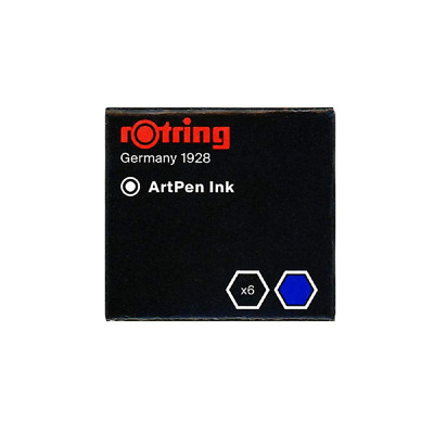 Rotring Artpen Ink Cartridge Refills Blue (Box of 6)