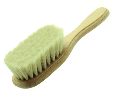 Hydrea Wooden Baby Brush with Soft Goats Hair Bristles
