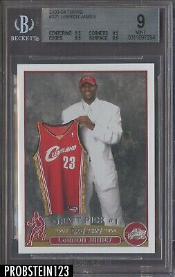 2003-04 Topps #221 LeBron James Cavaliers RC Rookie BGS 9 w/ (3) 9.5's