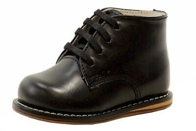 Josmo Infant Boy's First Walker Fashion Black Lace Up Oxford Shoes