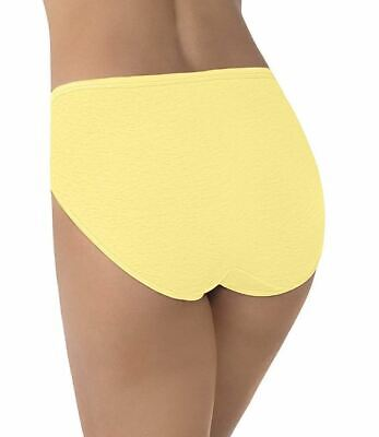 Plus Size 9 2X Vanity Fair Hi-Cut Briefs Panties 13108 Lemon Glow NEW Yellow NWT