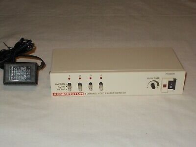 Remington 4-Channel Automatic Camera Switcher Everything WORKS