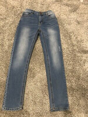 Boys Skinny Fit Blue Jeans  Distressed Look Age 12 Years From Next