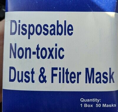 *BOX OF 50* Disposable Filter Dustface Masks