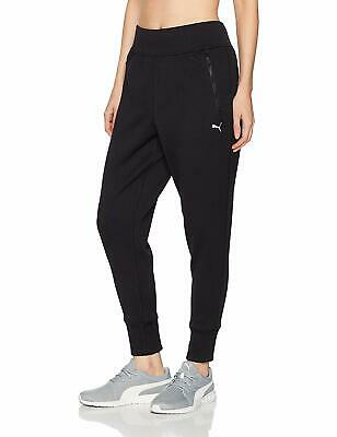 Puma Womens Pants Black Size Small S Zip Pocket Textured Stretch Quilted $54 403