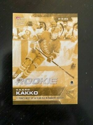 2019-20 TOPPS NOW NHL STICKERS UNOPENED PACK WEEK # 18 w/ 161G KAAPO KAKKO GOLD
