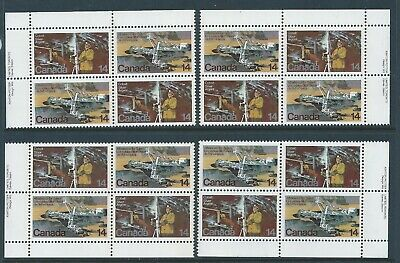 Canada #766a Natural Resources Matched Set Plate Block MNH