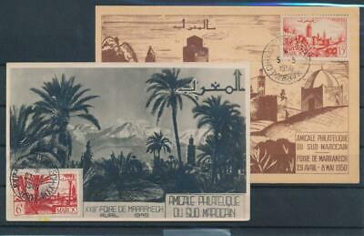 [G42489] French Morocco 1949/50 Two good first Day cards Very Nice see pict