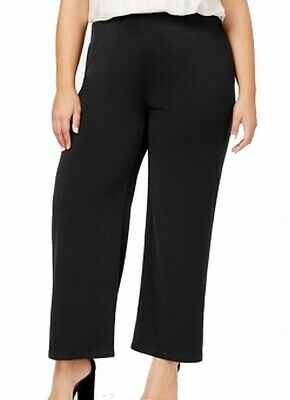 JM Collection Deep Black Womens Size 1X Plus Pull-On Pants Stretch $44 258