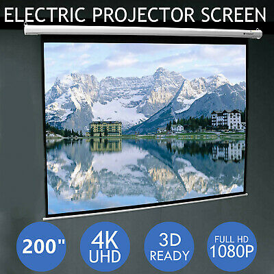 "200"" Portable Projector Screen 16:9 Rear Front Projection Home Theater Lot SA"