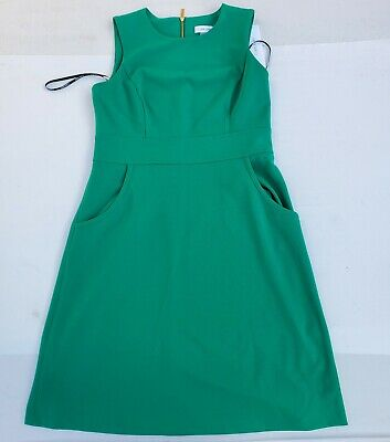 NWT Beautiful Womens Calvin Klein green dresses Size 10 with gold color zipper
