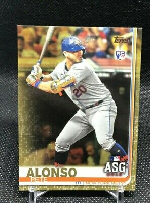 2019 Topps Update Pete Alonso New York Mets Gold Rookie Card #Us47 1752/2019