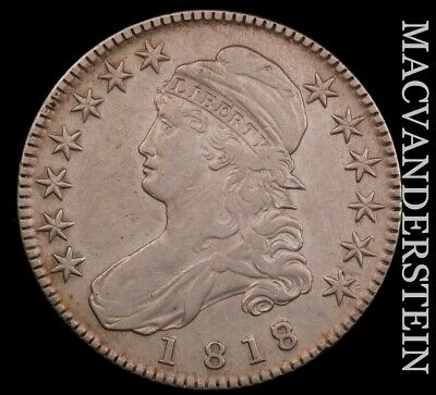 1818/7 Capped Bust Half Dollar - Small '8' - Semi-key  Extra Fine+  #H7807