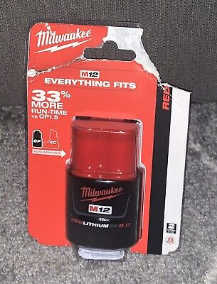 NEW Genuine Milwaukee M12 12-Volt RED LITHIUM Ion 2.0 Ah 48-11-2420 Battery