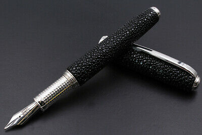 Thethis Silver & Marine Stingray Fountain Pen Black Waterman Cartridge 1°Auction