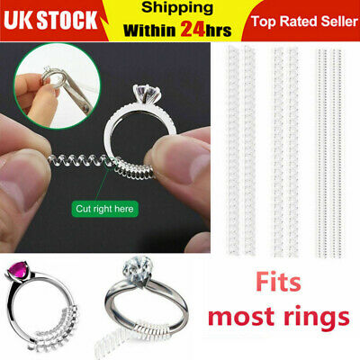 6X Ring Size Reducer Spiral Adjuster Resizer Snuggies Snugs Silicone Fr All Ring