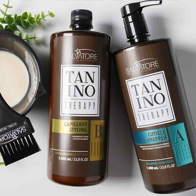 💓Lissage Au Tanin Tanino therapy Salvatore 2x100ml Kits Complet sans  formol 💓