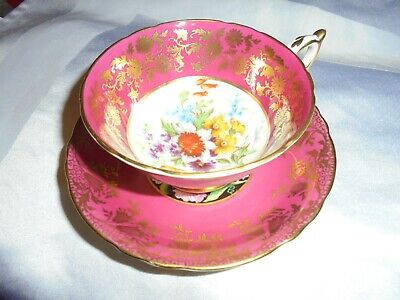 VINTAGE PARAGON FINE BONE CHINA CABINET CUP & SAUCER - Very pretty