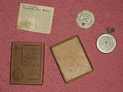 Vintage Watkins Bee Exposure Meter with box and instructions