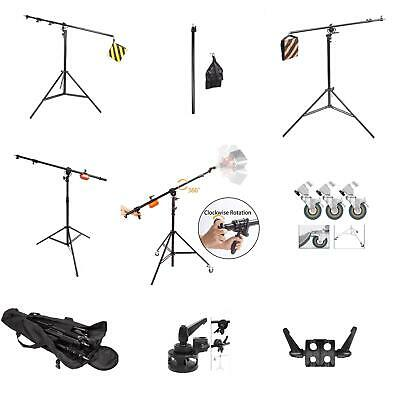 Professional Boom Arm Light Stand Overhead Studio Photography Photo Video Kit UK