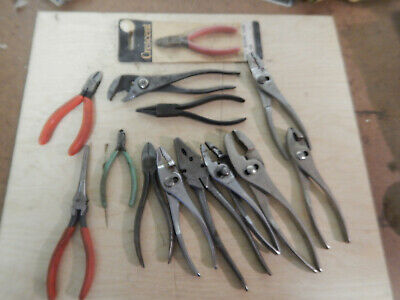 Pile Of New And Used Older Crescent Utica Kraueter Pliers Cutters Hand Tools