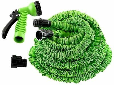 25FT Expandable Compact Garden Hose Pipe Flexible Car Wash Spray Nozzle