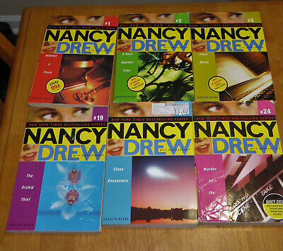 6 Nancy Drew Girl Detective Books #1 #2 #3 #19 #21 #24 Paperbacks