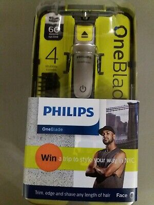 NEW Philips OneBlade QP2530/25 with stubble 4 Combs 1, 2, 3, 5mm(factory sealed)