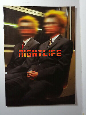 Pet Shop Boys NIGHTLIFE world tour programme 1999 Great Condition