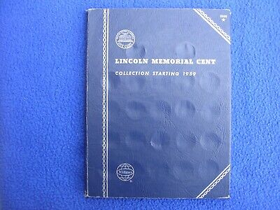 Vintage Whitman Lincoln Memorial Cent Starting 1959 US Coin Album 9000