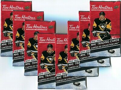 2019-20 Tim Hortons UD Hockey 8 Unopened packs!! Relics? SP1? Duos?