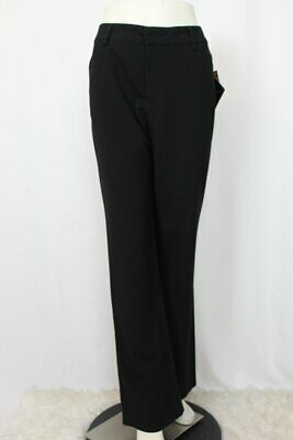 Gloria Vanderbilt Women's Black Stretch Pants Trousers - Size 12 - New