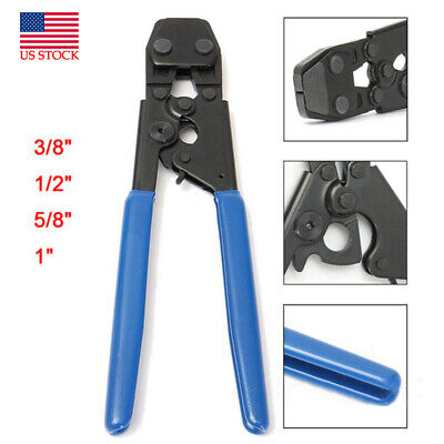 """PEX Cinch Crimp Crimper Crimping Tackle For Hose Clamps Size From 3/8"""" To 1"""""""