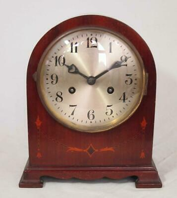 BEAUTIFUL VINTAGE ANTIQUE INLAID MANTLE CLOCK timepiece