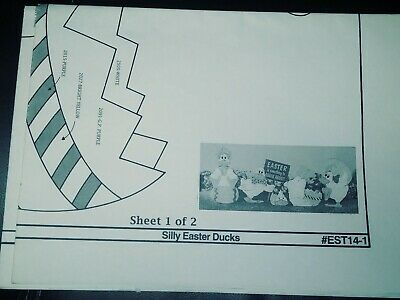 Silly Easter Ducks Yard Art The Winfield Collection pattern packet