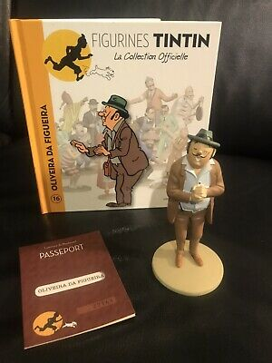 Collection Officielle Tintin Figurine Tintin N16 Oliveira livret passeport coke