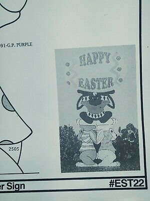 Bunny Trio Easter Sign Yard Art the winfield collection pattern packet